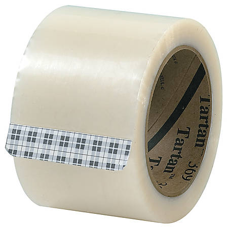 "3M® Tartan 369 Carton Sealing Tape, 3"" x 110 Yd., Clear, Case Of 24"
