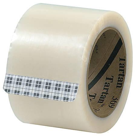 "3M® Tartan 369 Carton Sealing Tape, 3"" x 110 Yd., Clear, Case Of 24"