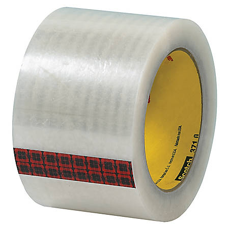 """3M® 371 Carton Sealing Tape, 3"""" x 110 Yd., Clear, Case Of 24"""