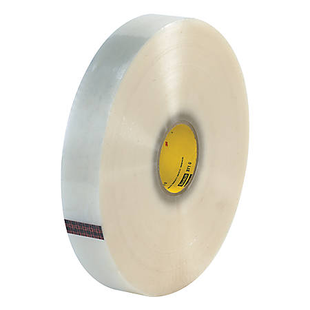 """3M® 371 Carton Sealing Tape, 2"""" x 1,000 Yd., Clear, Case Of 6"""