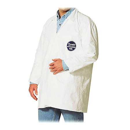 DuPont™ Tyvek® Lab Coats, Large, White, Carton Of 30