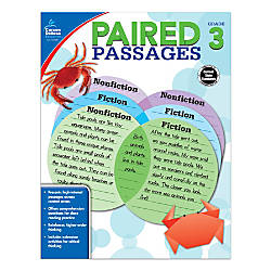 Carson Dellosa Paired Passages Workbook Grade
