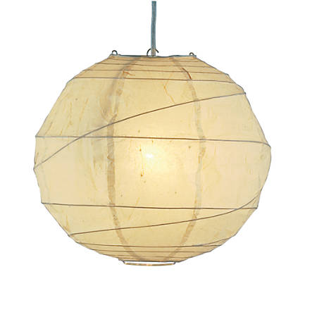 Adesso® Orb Pendant Ceiling Lamp, Large, Natural