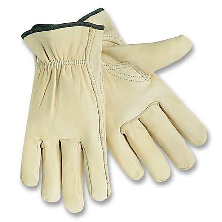 MCR Safety Leather Driver Gloves, Medium, 1 Pair