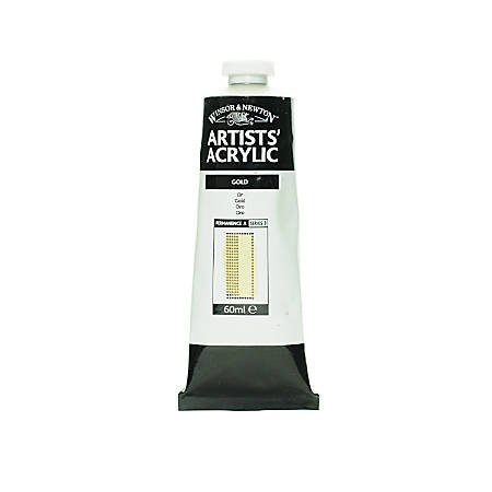 Winsor & Newton Professional Acrylic Colors, 60 mL, Gold, 283, Pack Of 2