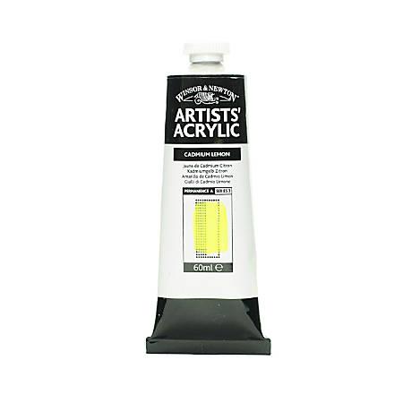 Winsor & Newton Professional Acrylic Colors, 60 mL, Cadmium Lemon, 86, Pack Of 2