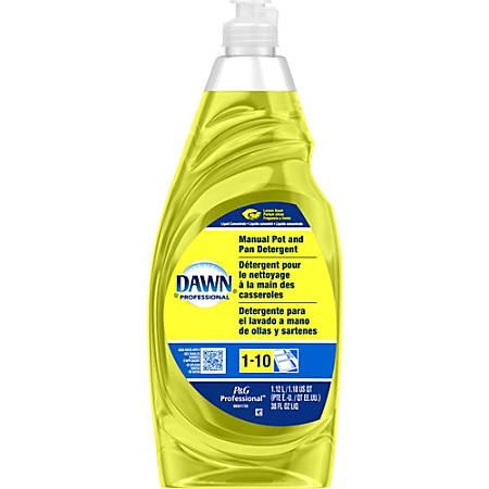 Dawn Manual Pot/Pan Detergent - Liquid - 0.30 gal (38 fl oz) - Lemon Scent - 1 Bottle - Yellow