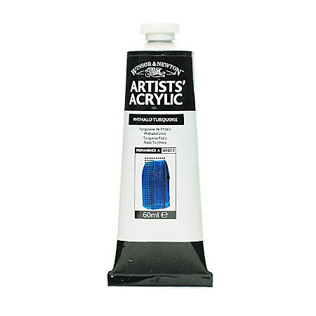 Winsor & Newton Professional Acrylic Colors, 60 mL, Phthalo Turquoise, 586, Pack Of 2