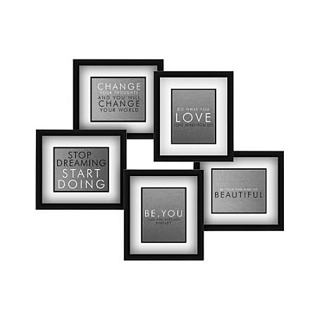 "PTM Images Photo Frame, Photo Set, 31""H x 1 1/4""W x 29""D, Black/White"