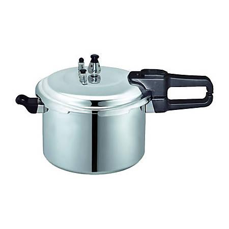 Brentwood 7.0-L Aluminum Pressure Cooker, Black/Silver