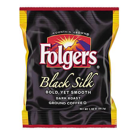 Folgers Black Silk Coffee Fraction Packs, 1.4 Oz, Pack of 42