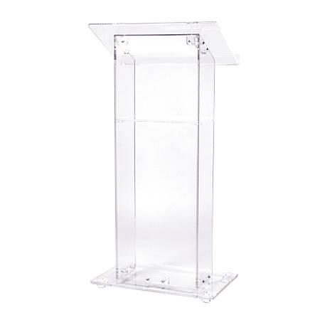 Oklahoma Sound? Acrylic Lectern With Shelf, Clear