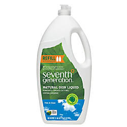 Seventh Generation Natural Dish Liquid Free