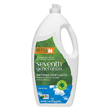 Seventh Generation® Natural Dish Liquid, Free & Clear, 50 Oz