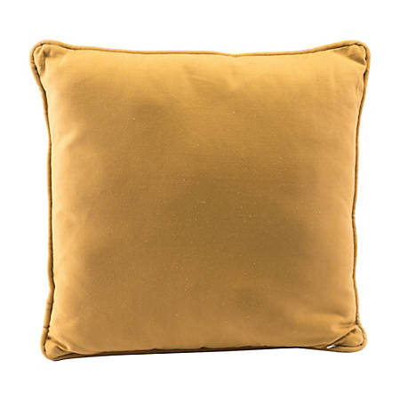 Zuo Modern Canvas Throw Pillow, Yellow