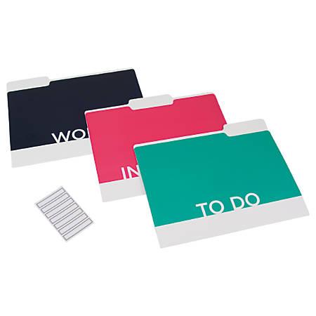 See Jane Work® File Folders, Reversible, Letter Size, Multicolor