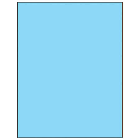 "Office Depot® Brand Labels, LL185BE, Rectangle, 8 1/2"" x 11"", Pastel Blue, Case Of 100"