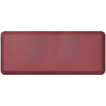 "GelPro NewLife Designer Comfort Leather Grain Anti-Fatigue Floor Mat, 20"" x 48"", Cranberry"