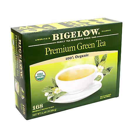 Bigelow Tea Bags, Premium Organic Green Tea, Pack Of 168