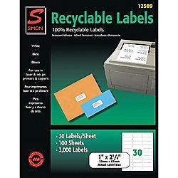 e2d53f34161 Simon By SJ Paper 50percent Recycled White CopierInkjetLaser Address ...