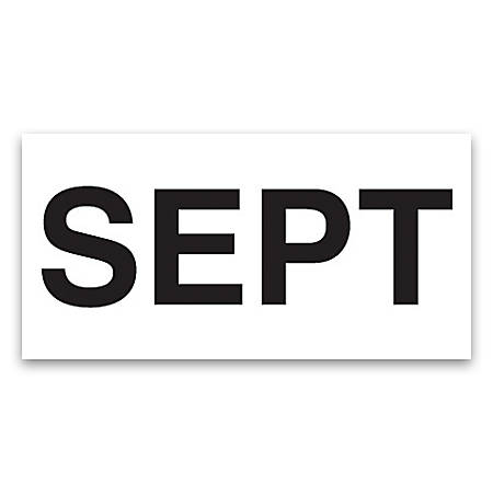 "Tape Logic® Permanent Inventory Label Roll, DL6862, Month-Style, ""SEPT,"" 6"" x 3"", White, Roll Of 500"