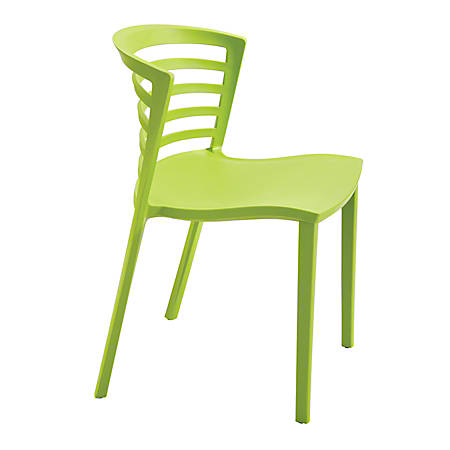 Safco® Entourage™ Stacking Chairs, Green, Set Of 4