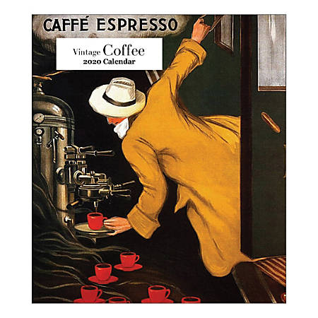 "Retrospect Vintage Coffee Monthly Desk Calendar, 6-1/4"" x 5-1/2"", January To December 2020, YCD 077-20"