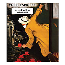 Retrospect Vintage Coffee Monthly Desk Calendar