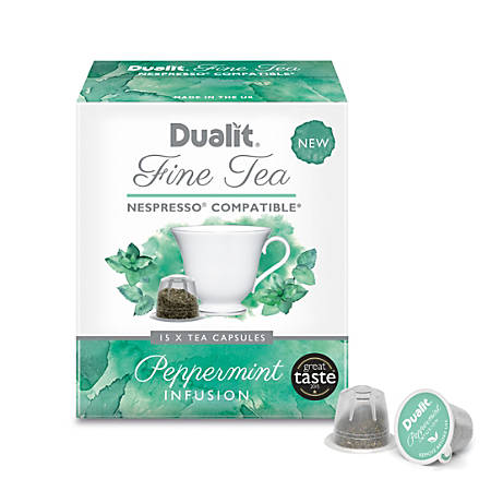 Dualit And Nespresso® Compatible Fine Tea NX Capsules, Peppermint, 2.2 Grams, Carton Of 60