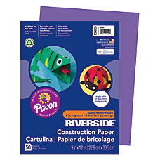Riverside Groundwood Construction Paper 100percent Recycled