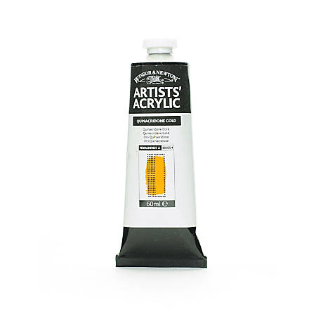 Winsor & Newton Professional Acrylic Colors, 60 mL, Quinacridone Gold, 547