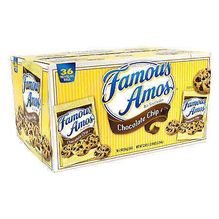 Famous Amos Chocolate Chip Cookies, 2-Oz Bag, Pack Of 30