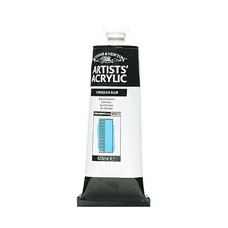 Winsor & Newton Professional Acrylic Colors, 60 mL, Cerulean Blue, 137