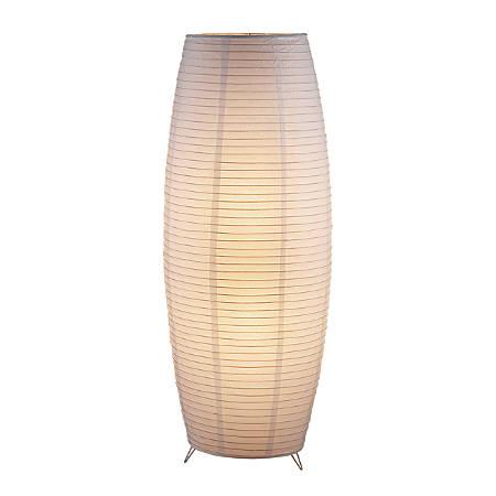 "Adesso® Suki Floor Lantern Lamp, 51""H, White/Chrome"
