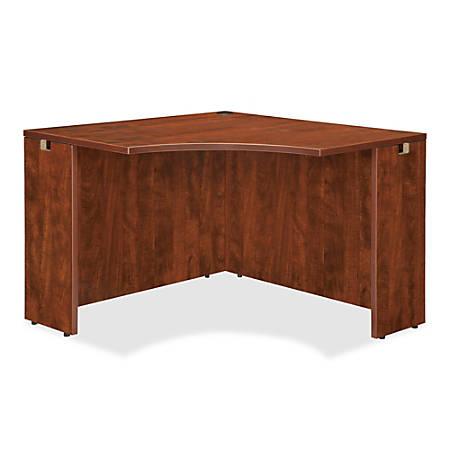 """Lorell® Essentials Series Corner Desk, 42""""W, Cherry"""