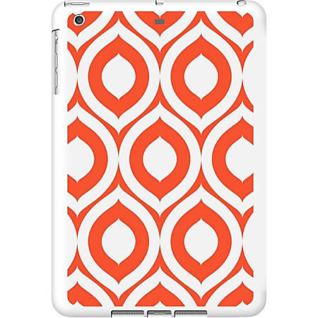 OTM iPad Air White Glossy Case Elm Bold Collection, Orange - For Apple iPad Air Tablet - Bold - White, Orange - Glossy