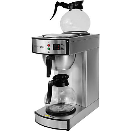 Coffee Pro Twin Warmer Institutional Coffee Maker - 2.32 quart - 12 Cup(s) - Multi-serve - Stainless Steel - Stainless Steel