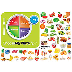 Little Folk Visuals MyPlate Flannel Board