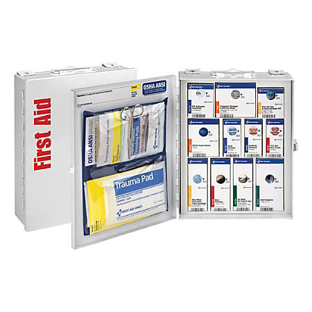 """First Aid Only SmartCompliance First Aid Food Service Cabinet, 9 1/2""""H x 3 1/4""""W x 12""""D, White"""