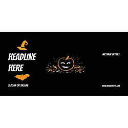 Custom Horizontal Banner Black Halloween
