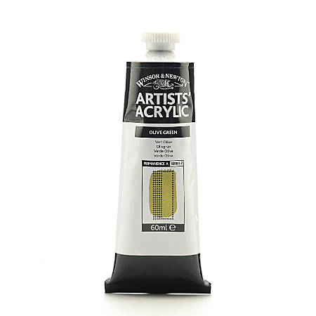 Winsor & Newton Professional Acrylic Colors, 60 mL, Olive Green, 447, Pack Of 2