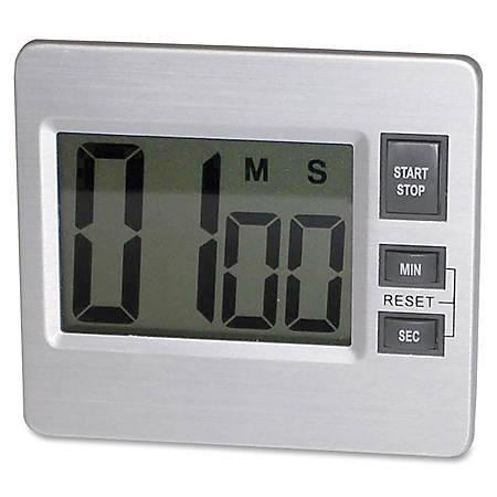 Tatco Digital Timer - Desktop - Silver, Black