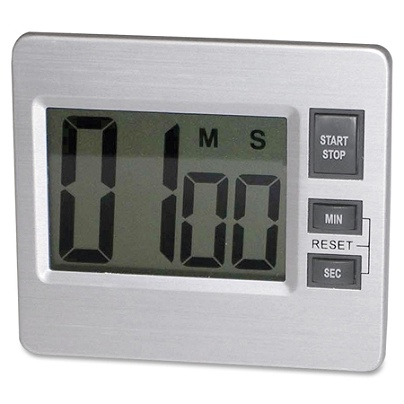 Tatco Digital Timer - Desktop - Silver, Black Item # 274623
