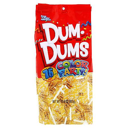 Dum Dums Crème Soda Lollipops, Party Yellow, 75 Pieces Per Bag, Pack Of 2 Bags
