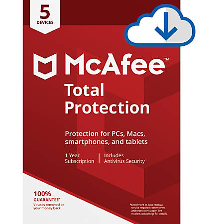 McAfee® Total Protection, For 5 PC And Mac Devices, Download Version