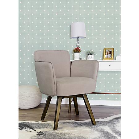 Elle Décor Esme Home Office Chair, Blush Pink/Dark Chinese Chestnut
