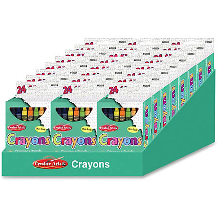 CLI Creative Arts 24 Crayon Display - Assorted - 24 / Display Box