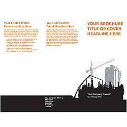Customizable Trifold Brochure Construction Site