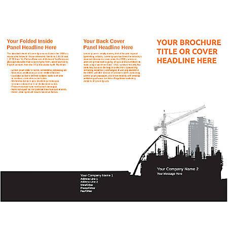 Customizable Trifold Brochure, Construction Site