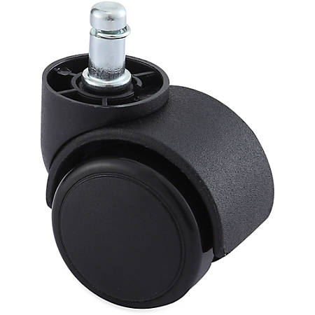 Lorell® Dual Soft Wheel Casters With Brake, Large Neck, Black, Set Of 5